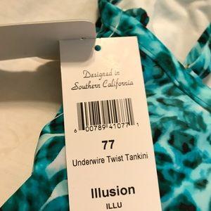 Swim - Sunset Tankini Top Size 34DD NWT